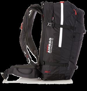 ectic-ch : Sac à Dos_Airbag_Mammut Technology 3.0 -_30L - Noir - Profil - avec pelle et sonde